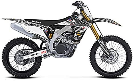 Compatible with Suzuki. Merica MATTE BLACK Base Graphics Kit Senge Graphics 2000-2009 DRZ 110