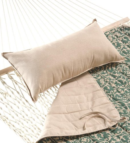 Easy-Care Quilted Polyester Reversible Hammock Pad, in Green Scroll