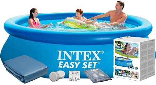 Intex 28120 5 in1 305 x 76 cm 3853l Pool – Juego Easy – Set de Jardín Piscina + cubierta protectora gratuito Original para 243 cm Base de: Amazon.es: Jardín