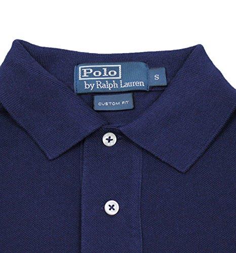 Polo shirt uomo Ralph Lauren original maniche lunghe blu scuro