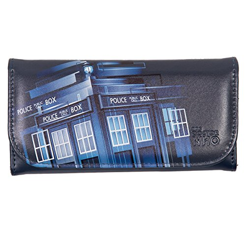 Doctor Who Purse - Embossed Women's Wallet - Gradient TARDIS Design from Doctor Who
