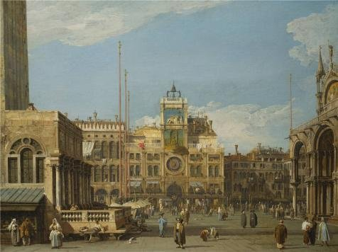 Oil Painting 'Giovanni Antonio Canale,The Clock Tower In The Piazza San Marco,1728-1730' 8 x 11 inch / 20 x 27 cm , on High Definition HD canvas prints is for - Marco San Stores Outlets