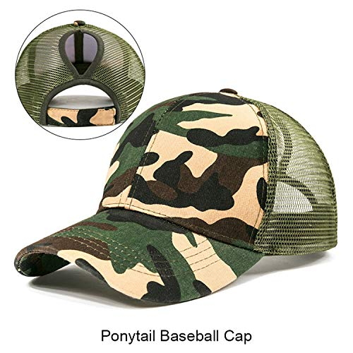 Used, 2019 Ponytail Baseball Cap Women Messy Bun Snapback for sale  Delivered anywhere in USA