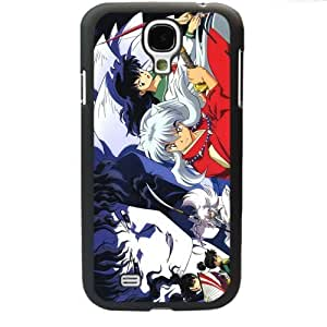 InuYasha Manga Anime Comic Higurashi Kagome Samsung Galaxy S4 SIV I9500 TPU Soft Black or White case (Black)