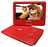 Sylvania SDVD9020B-RED 9-Inch Swivel Screen Portable DVD Player (Certified Refurbished)