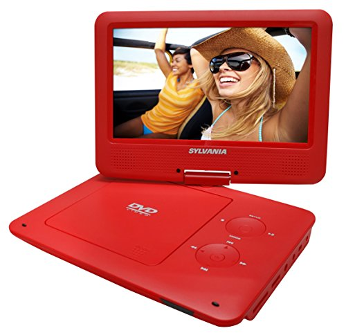 Sylvania SDVD9020B-RED 9-Inch Swivel Screen Portable DVD Pla