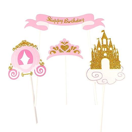 BESTOYARD 24 Piezas Topper de Pastel de Cumpleaños de ...