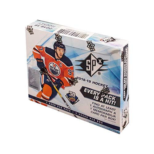 2018-19 Upper Deck SPx Hockey Hobby Box