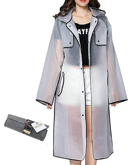 Ducomi® Emily - Mantella Antipioggia Impermeabile da Donna con Cappuccio -  Sfoggia Il Tuo Outfit Migliore Anche sotto la Pioggia  Amazon.it   Abbigliamento f4001e44c3a3