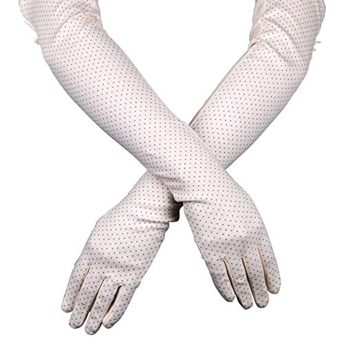 UV Sun Protection Driving Gloves Women UPF 50+ with Breathable Cotton Material and 21.6
