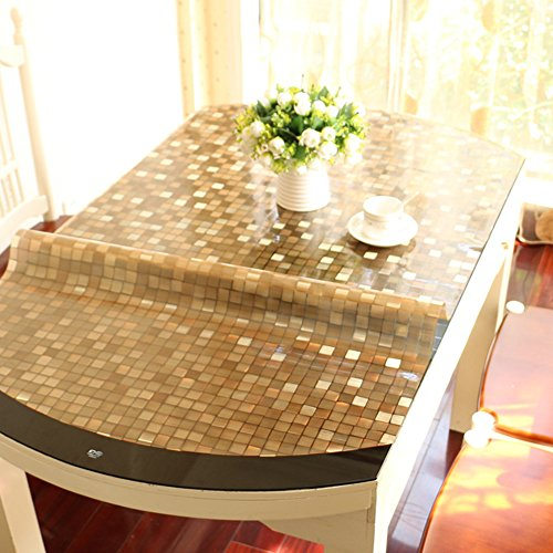 Stretch,Fold/Oval Tablecloth/Transparent Waterproof Table Mat-B 80x130cm(31x51inch) by