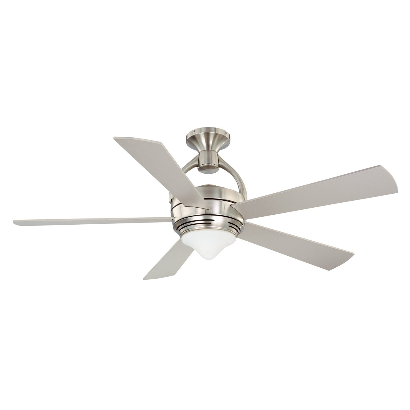 Kendal Lighting Ac18052 Sn Premia 52 Inch 5 Blade 1 Light Ceiling Fan Satin Nickel Finish With Blades And Integrated Kit Com