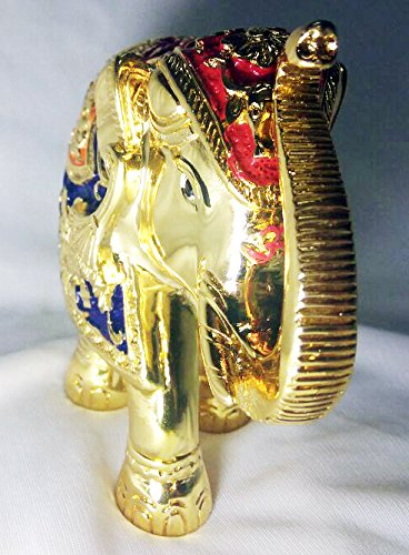 Buy Hanumex Brass Metal Elephant Statue Showpiece With Color Art