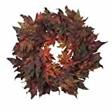 Nearly Natural 4908 Maple Leaf Wreath, 30-Inch, Autumn
