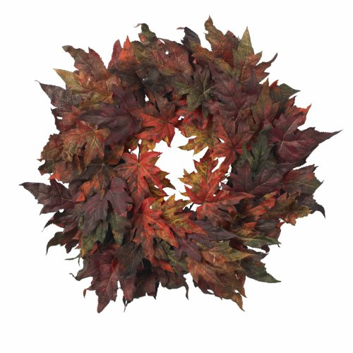 Nearly Natural 4908 Maple Leaf Wreath, 30-Inch, Autumn by Nearly Natural