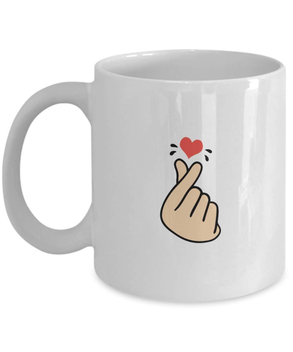 KWave Kpop Merchandise – Gift for I Heart K-Pop Korean Songs Lovers -Funny  Mugs for Hallyu Korean Culture Lovers – Korean Heart Novelty Coffee Mugs