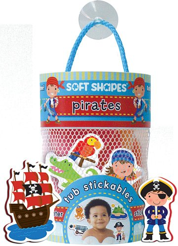 Innovative Kids Soft Shapes Illustration Tub Stickables Pirates Playset - Pirate Shape