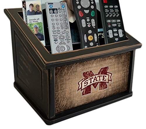 Fan Creations C0765-Mississippi Mississippi State University Woodgrain Media Organizer, Multicolored