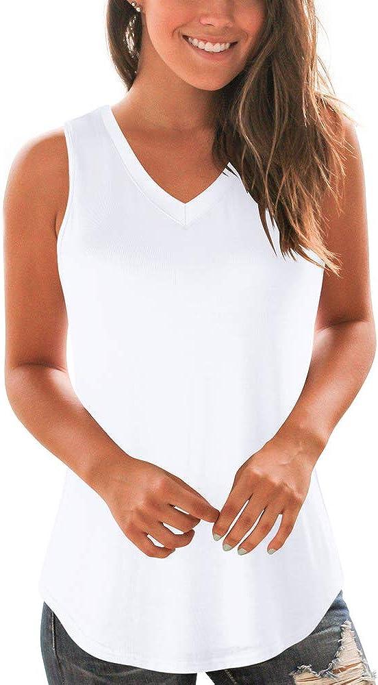 WFTBDREAM Tank Tops for Women Casual Turtle Neck/V Neck Sleeveless Tops