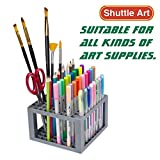 Arts & Crafts : Shuttle Art 96 Hole Pens Pencils Brush Holder Desk Stand Organizer Holder for Pens, Paint Brushes, Colored Pencils, Markers