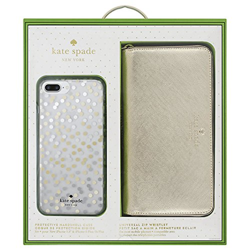 Kate Spade Universal Zip Wristlet and iPhone 8 Plus Case Gift Box Set from Kate Spade New York