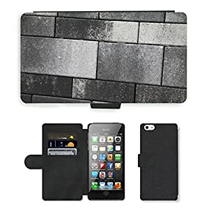 Hot Style Cell Phone Card Slot PU Leather Wallet Case // M00150684 Stone Texture Background Stones Wall // Apple iPhone 5 5S 5G
