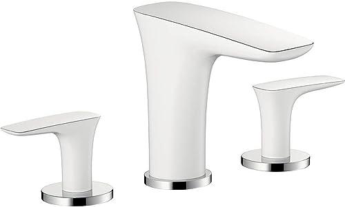 hansgrohe PuraVida Avantgarde Luxury Easy Clean 2-Handle 3 5-inch Tall Bathroom Sink Faucet in White Chrome, 15073401