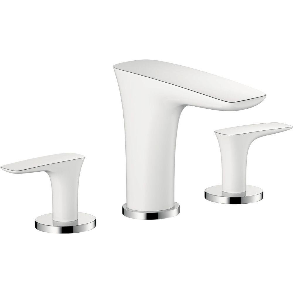 Hansgrohe 15073401 Puravida Widespread Faucet, White/Chrome ...