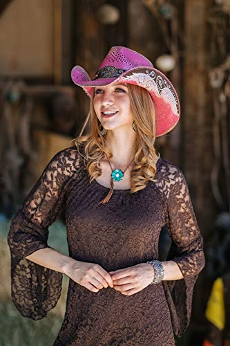 Stampede Hats Women's Burn The Breeze Flower Filigree Cowboy Hat S Pink by Stampede Hats (Image #6)