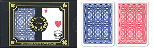 24 sets (48 decks) Da Vinci Neve, Italian 100% Plastic Playing Cards, Poker Size Regular Index by Million Dollar Baby Classic