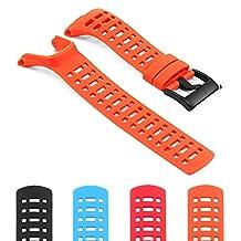 StrapsCo Silicone Watch Band Strap for Suunto Ambit 1/2/3 and Peak w/ Matte Black Buckle