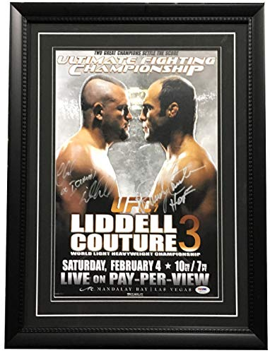 Chuck Liddell Randy Couture Autographed Signed Ufc Fight Poster 2 Auto Rare Ins Psa/Dna Authentic