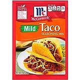 McCormick Mild Taco Seasoning Mix, No MSG Seasoning, Kid-Friendly, 1 oz