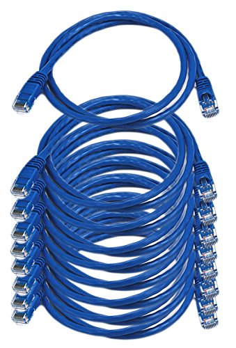 (iMBAPrice - 3ft Cat5e Network Ethernet Patch Cable (10 Pack) - Blue)