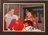 Michael and Ralf Schumacher Autographed Photo