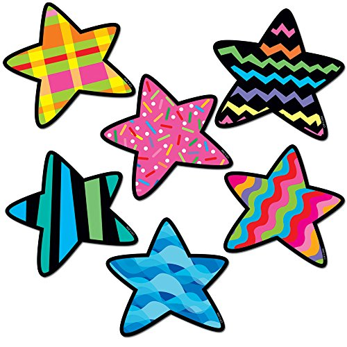 (Creative Teaching Press 6-Inch Designer Cut-Outs Variety Pack, Stars (1841))