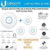 Ubiquiti Unifi UAP-AC-PRO 4-PACK PRE-CONFIGURED Dual-Radio Pro Access Point PoE