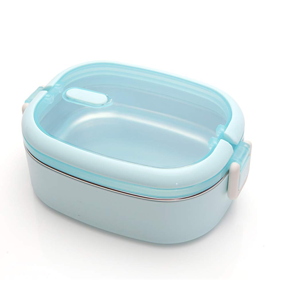 Bento Box, Breathable 304 Stainless Steel Single-Layer Fresh-Keeping Lunch Box with Soup Spoon for Office Workers, Students, Adults Outdoor Picnic by LTLSF