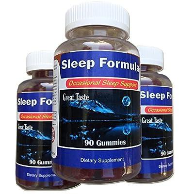 Sleep Formula™ Sleep Gummies, Celebrity's #1 Sleep Aid - Non Habit Forming Sleeping Gummies - Great Taste Sleep Gummies, Just put in mouth 10 minutes before your sleep time and you are done.