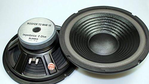 2 Stück Bass Lautsprecher 10 Zoll MHB 200 Watt 8 Ohm