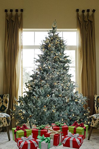 8 FT PRE-LIT PREMIUM 1600 REALISTIC BRANCH TIPS / PINES SPRUCE HINGED ARTIFICIAL CHRISTMAS TREE WITH 600 LED LIGHTS AND STAND