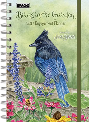Lang 2017 Birds In The Garden Spiral Engagement Planner, 6 x 9 inches (17991011105)