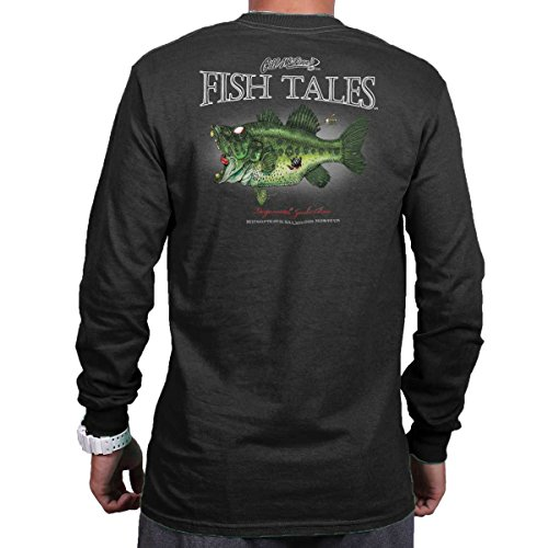 Largemouth Zombie Bass Fish Sporting Goods Fishing Gear Funny Long Sleeve Tee ()
