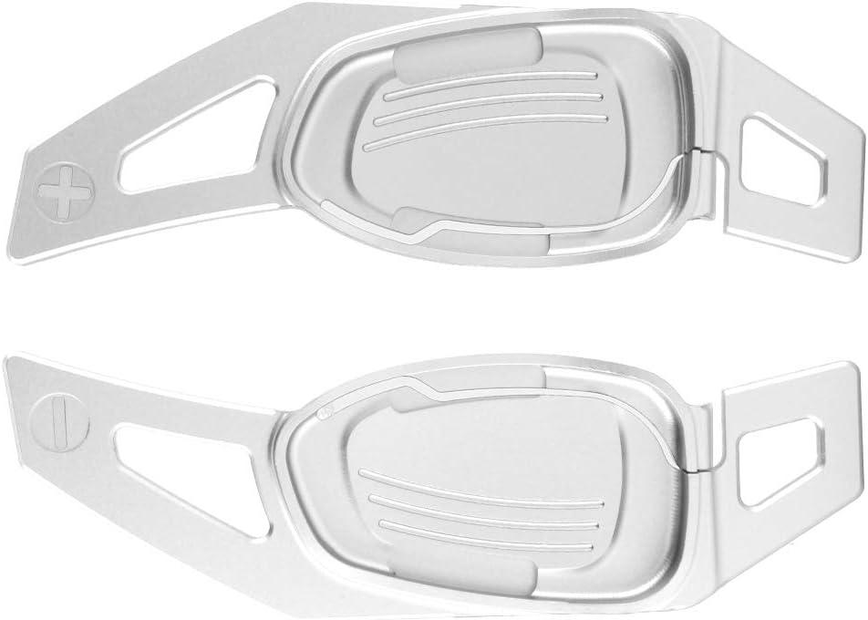 EBTOOLS Palettes de Changement de Vitesse Extensions de palettes de Changement de Vitesse de Volant de Voiture en Aluminium adapt/ées pour S3//S5//S6//SQ5//RS3//RS6//RS7 Argent