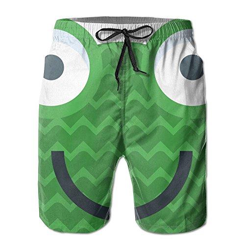 Icon Mens Boardshorts (ZQAQDW Mens Summer Frog Icon Boardshort With Pocket)