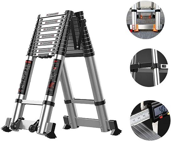 Escalera Extensible Escalera telescópica Multifuncional De Aluminio Extensión Telescópica Escalera - Retracción Un Solo Botón Diseño, La Escalera Telescópica Extensible con Patas Antideslizantes, 330: Amazon.es: Hogar