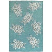 Liora Manne Monaco Tortoise Rug, Aqua, Indoor/Outdoor, 24 x 36