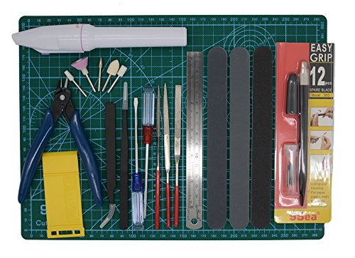 Alemon Gundam Modeler Builder's Tools Craft Set Kit  For Professional Bandai Hobby Model Assemble Building
