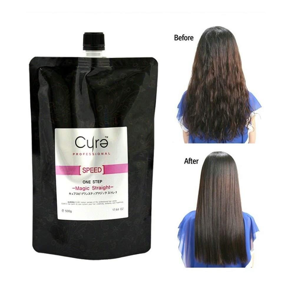 Amazon Com Cure One Step Japanese Magic Hair Straightening Treatment Straight Cream By Aurora Beauty