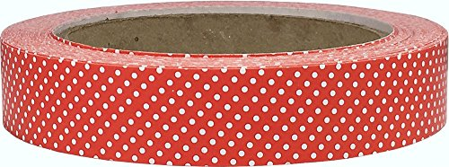 (Christmas Holiday Gift Wrapping Tape Red with White Polka Dots 3/4 Inch 25 Yard Length)